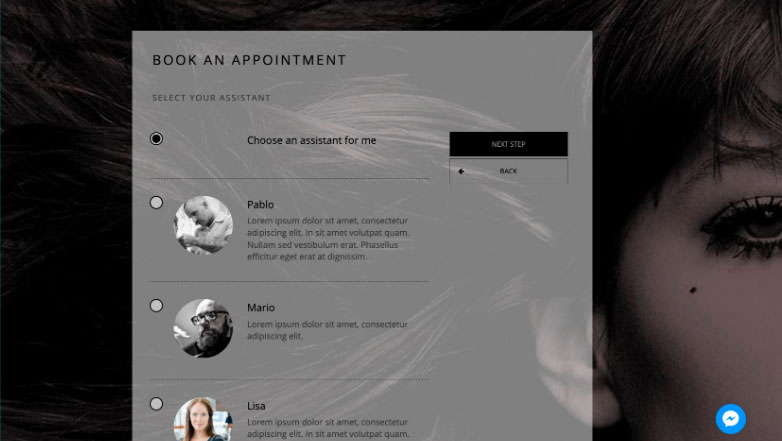 Select Your Assistant Salon & Spa Appointment