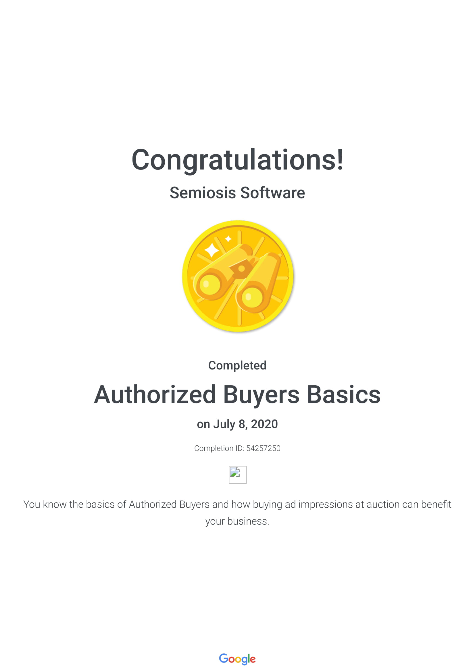 Authorized Buyers Basics