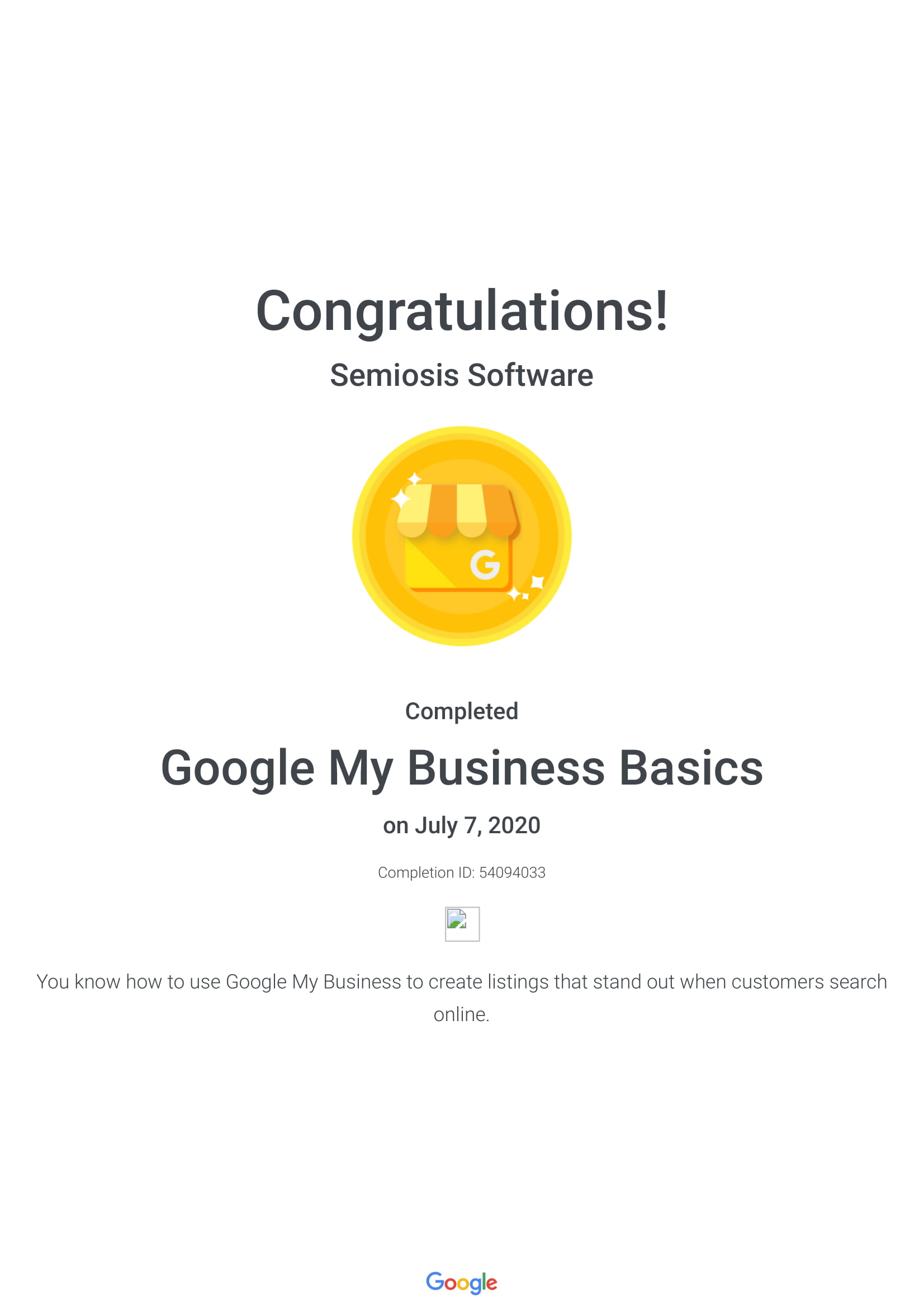 Google My Business Basics