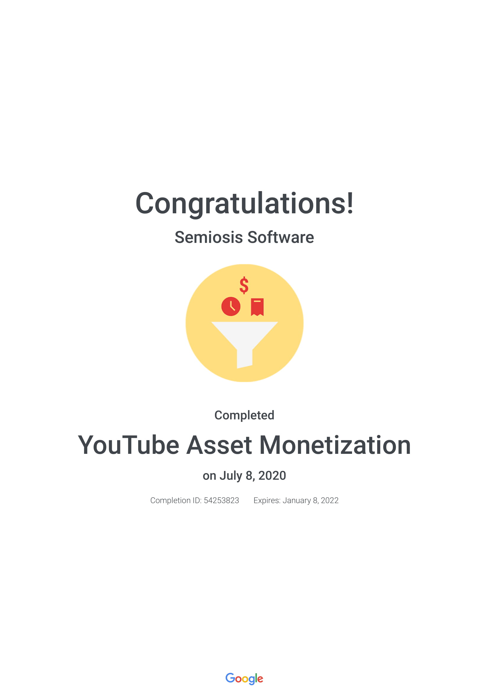 YouTube Asset Monetization